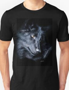 """""""The Look Back"""" Timber Wolf Portrait T-Shirt"""