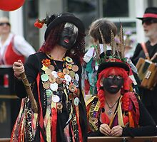 morris dancers waiting  by blueandwhite80