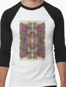 Floral Light Men's Baseball ¾ T-Shirt