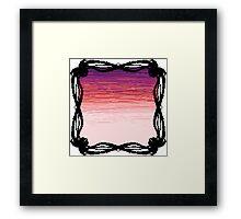 Pixel Sky- Sunset Framed Print