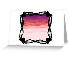 Pixel Sky- Sunset Greeting Card