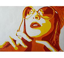 Chic Lady with Shades Photographic Print