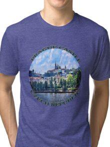 PRAGUE CASTLE TEE SHIRT  - PILLOWS - TOTE BAG- JOURNAL-ECT. Tri-blend T-Shirt