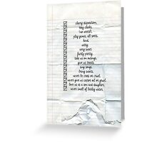 Nanny Checklist Greeting Card