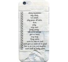 Nanny Checklist iPhone Case/Skin