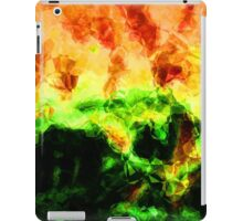 Fractured World On Fire Abstract  iPad Case/Skin