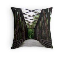 Bridge to Nature Throw Pillow