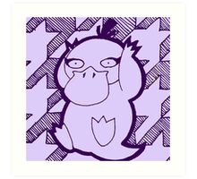 Psyduck but also Lily Art Print