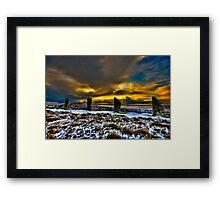 Sunset over Ring of Brodgar Framed Print