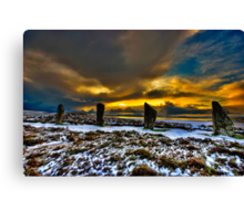 Sunset over Ring of Brodgar Canvas Print