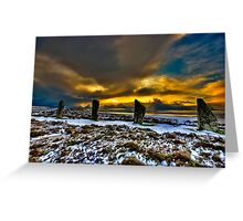 Sunset over Ring of Brodgar Greeting Card