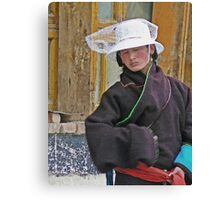 Lady in White Hat Canvas Print