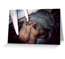 The Matterhorn Yeti Greeting Card