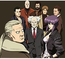 ghost in the shell motoko kusanagi batou section 9 anime manga shirt Photographic Print