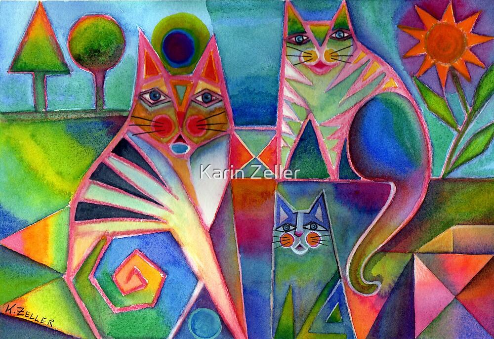Happy Cats by Karin Zeller