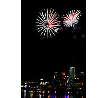 Fireworks over Cincinnati Photographic Print