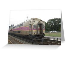 1707 MBTA Commuter Rail Greeting Card