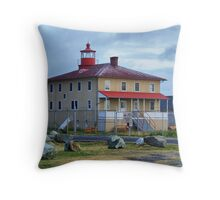 Lighthouse - Point Lookout Throw Pillow