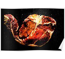 Steak T-Bone Poster