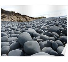 Boulders on the Beach - The Burrows, North Devon Poster