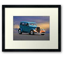 1934 Ford Victoria 'Ol Blu' Framed Print