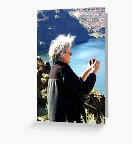 Mom at Vantage Greeting Card