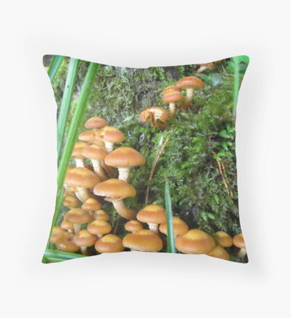 Wild Mushrooms - Eire Throw Pillow