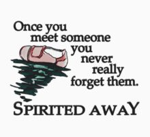 Sketchy Style Spirited Away Quote One Piece - Short Sleeve