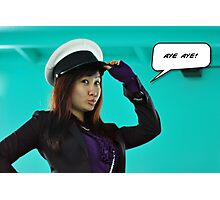 Sailor woman - aye aye captain Photographic Print