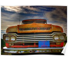 Textured Ford Truck Poster