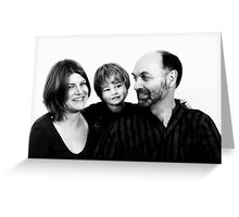 Family in B&W - 1 Greeting Card