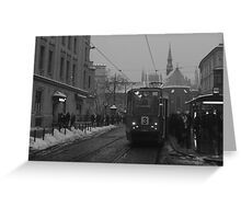 Winter about town, Krakow, Poland Greeting Card