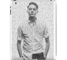 "G-Eazy ""Let's Get Lost"" Lyric Overlay iPad Case/Skin"