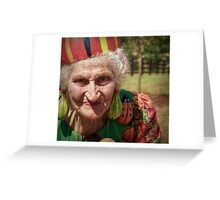 The Gourd Lady Greeting Card