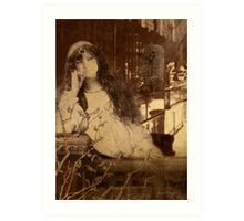 Languishing in the House of Desire II (Art & Poetry) Art Print