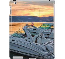 Motor Boats At Sunset In A Croatian Bay iPad Case/Skin