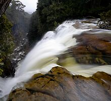 Harnett Falls as it plunges over the edge by Michael Gay