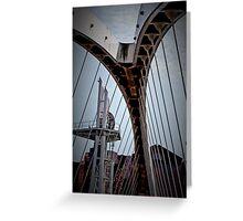 British Foot Bridge Greeting Card