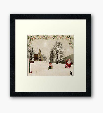 Going Home for Christmas... Framed Print