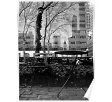 table and chair. manhattan - new york Poster