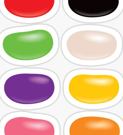 Jelly Bean Candy Assorted Colors Sticker