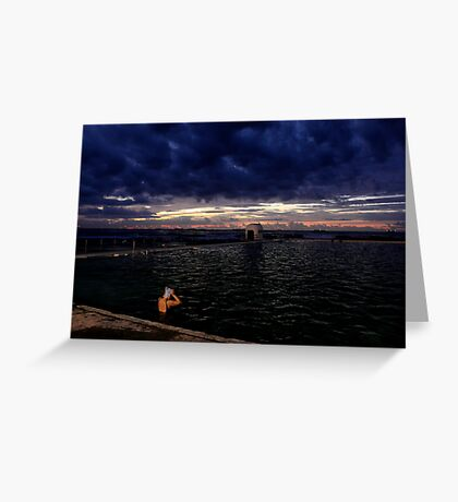 Morning Swim  - Merewhether baths  Greeting Card