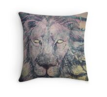 Gazing Lion Throw Pillow