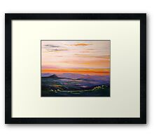 Tamborine Mountain Sunset Panorama Framed Print