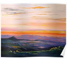 Tamborine Mountain Sunset Panorama Poster