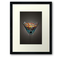 Candy Cocktail Framed Print