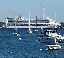 Princess Cruise Ship - Newport Harbor - Rhode Island by Jack McCabe