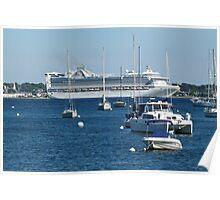 Princess Cruise Ship - Newport Harbor - Rhode Island Poster