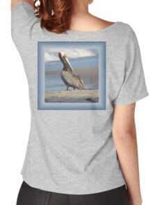 Oceanside Portrait of a Pelican Women's Relaxed Fit T-Shirt