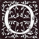 William Morris Inspired Letter O No.2 by Donna Huntriss